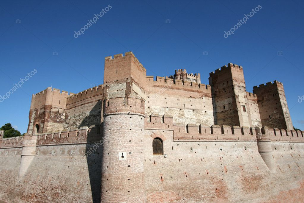 Medieval castle in Medina del Campo, Castille, Spain. Castillo de la Mota. — Stock Photo #4555827