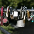 Lovers padlocks — Stock Photo