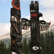 Stock Photo: CanadiIndians totem
