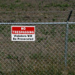 No trespassing - private property - Stock Photo
