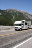RV in Canadian Rockies — Stock Photo