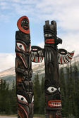 Canadian Indians totem — Stock Photo