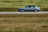 Car in motion — Stock Photo
