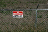 No trespassing - private property — Stock Photo