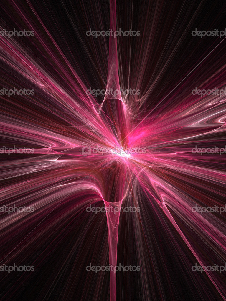 Abstract fractal background. Computer generated graphics. Pink space supernova explosion. — Foto Stock #4599313