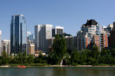 Calgary waterfront skyline — Stock Photo
