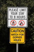 Funny sign — Stock Photo