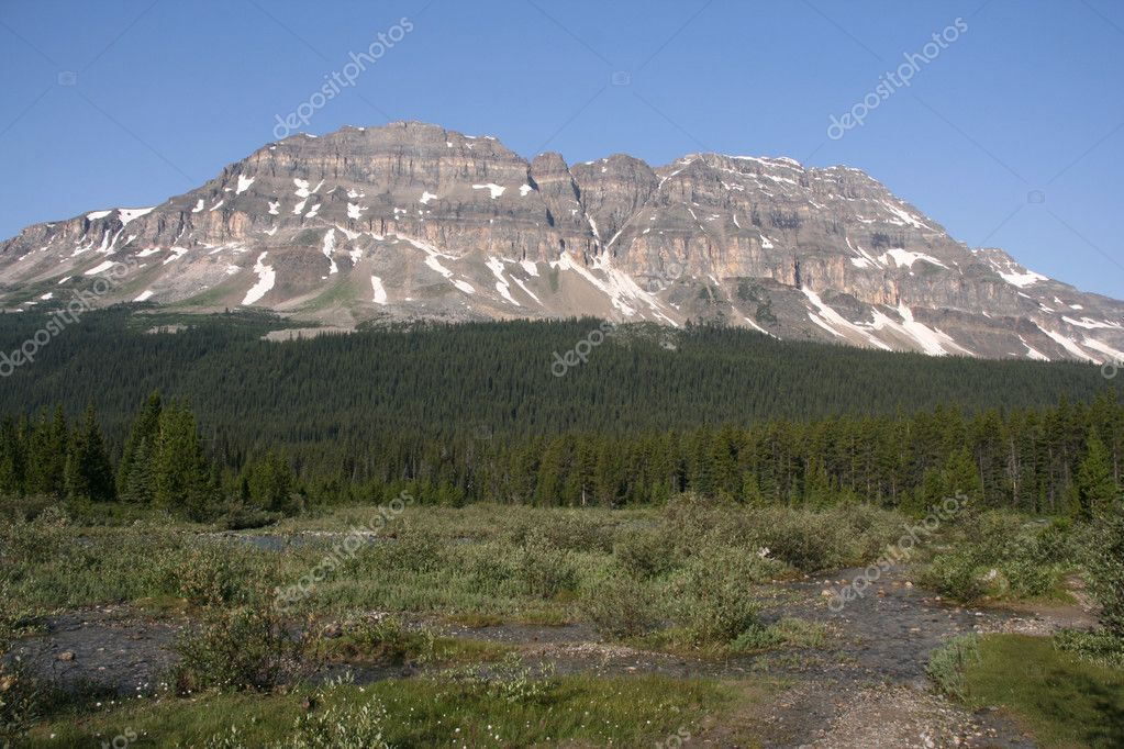Bow Peak in Banff National Park. 2868m high. Canadian landscape.  Stock Photo #4612843