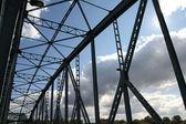 Fackverket bro — Stockfoto