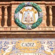 Cadiz coat of arms — Stock Photo