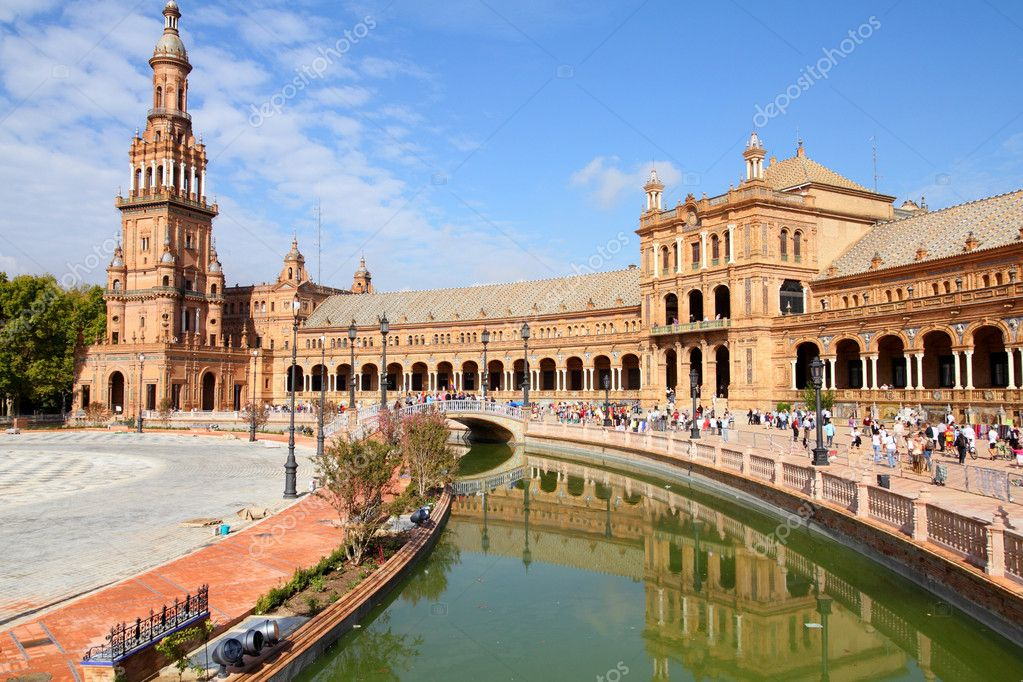 Famous Plaza de Espana, Sevilla, Spain. Old landmark. — Stock Photo #4644959