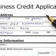 Business credit — Stock Photo