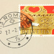Stock Photo: Switzerland stamp