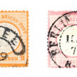 Old post stamps - Stock Photo