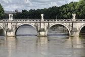 Sant Angelo Bridge, Rome — Stock Photo