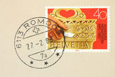 Switzerland stamp — Stock Photo