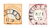 Old post stamps — Stock Photo