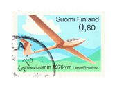 Stamp with aviation theme — Stock Photo