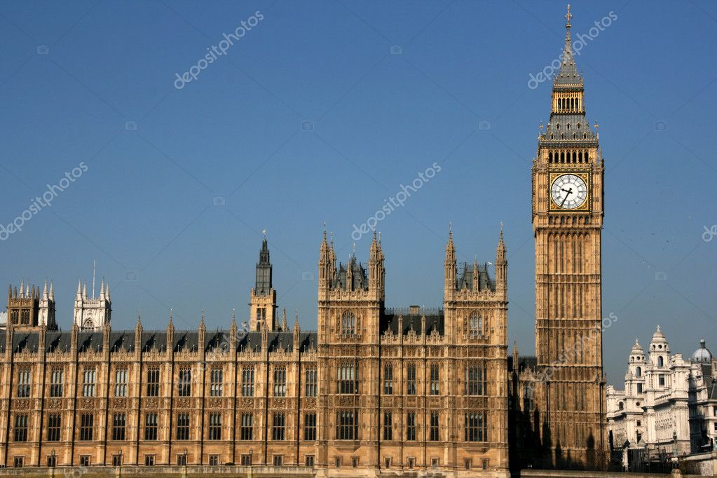 View in London: Big Ben and Houses of Parliament — Stock Photo #4659876