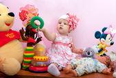 The nice little girl, — Stock Photo