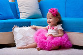 The beautiful little girl, — Stock Photo