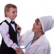 The doctor and the small patient — Stock Photo