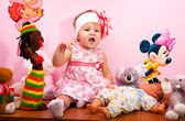 The charming little girl — Stock Photo