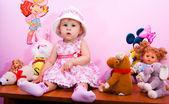 The nice little girl — Stock Photo