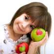 The beautiful girl with an apple — Stock Photo