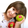 The beautiful girl with an apple — Stock Photo #4601075