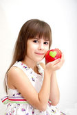 Favourite apples of the girl — Stock Photo