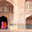 India, Woman in Amber fort — Stock Photo