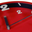 Red Clock isolated — Stock Photo