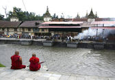 Monks in Pashupatinath, Nepal — Stock Photo