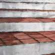 Ladder rungs rustic village with clay tile — Stock Photo #4783638