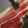 Court of a typical Jamon Iberico ham from Spain — Stock Photo