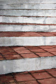 Ladder rungs rustic village with clay tile — Stock Photo