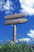 Cartello in legno per escursionisti — Foto Stock