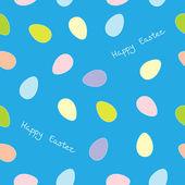 Easter eggs seamless pattern — Stock Vector