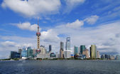 SHANGHAI Lujiazui office building of the Urban Landscape — Stock Photo
