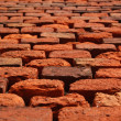 Stock Photo: Old red brick wall