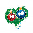 Stock Vector: Christmas Love toy balls