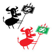 Crisis Devil — Stock Vector