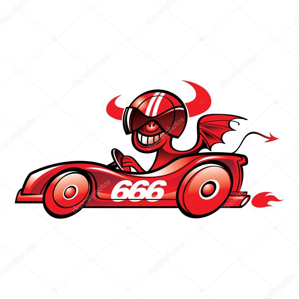魔鬼赛车 — 图库矢量图像08