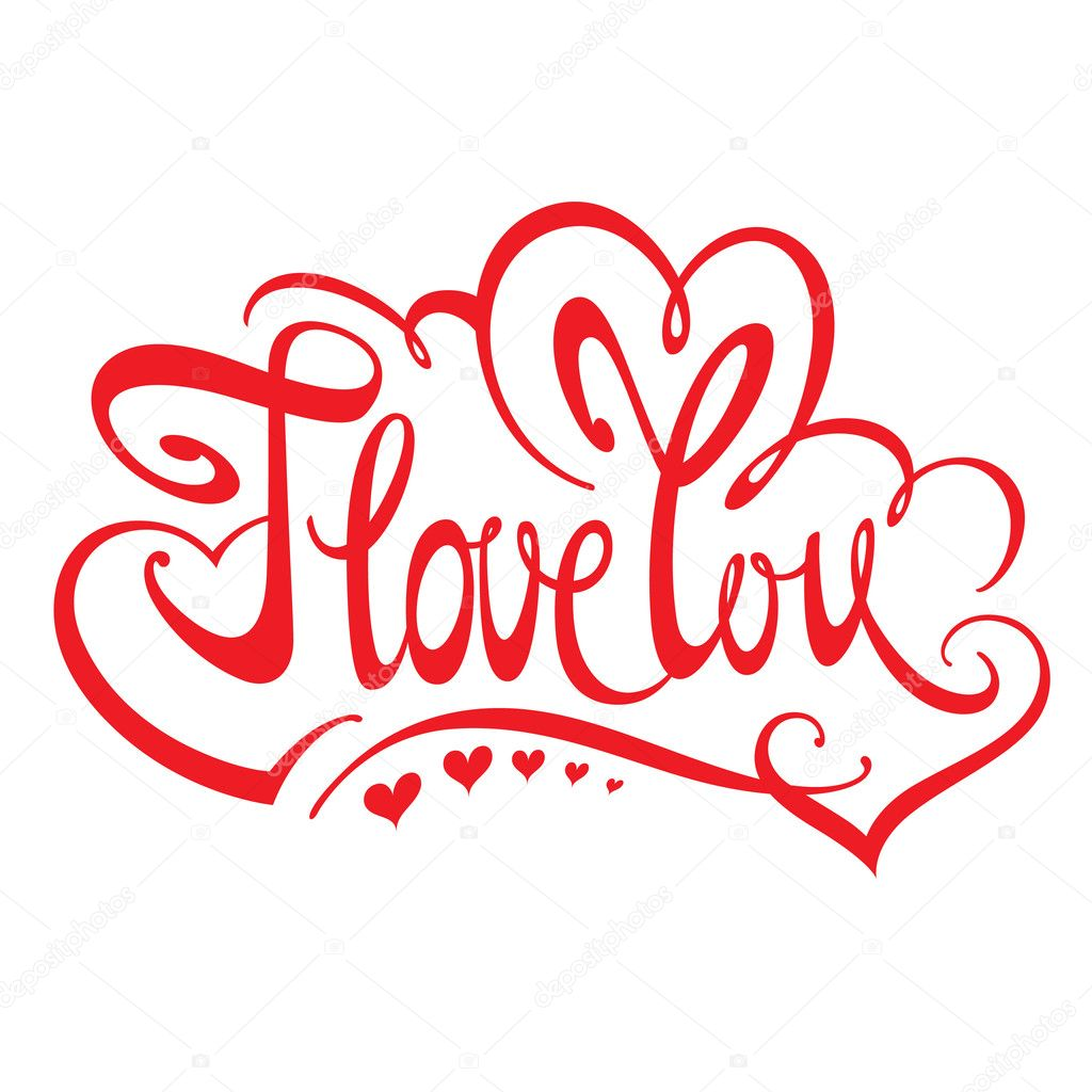 Confession I Love You With Red Hearts Stock Vector