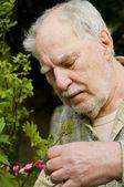 Baby boomer gardener close-up — Stock Photo