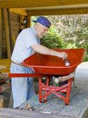 Senior painter 1 — Stock Photo