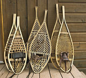 Assorted snowshoes — Stock Photo