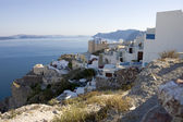 White washed houses over the caldera — Stock Photo