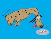 Dalmatian dog cartoon — Stock Vector